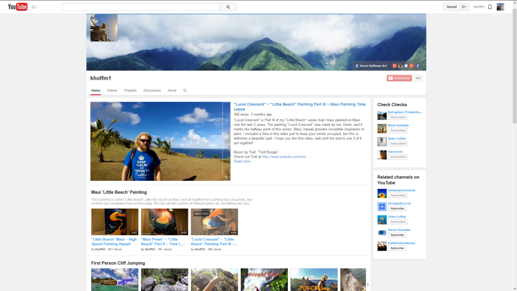 Professional YouTube Page
